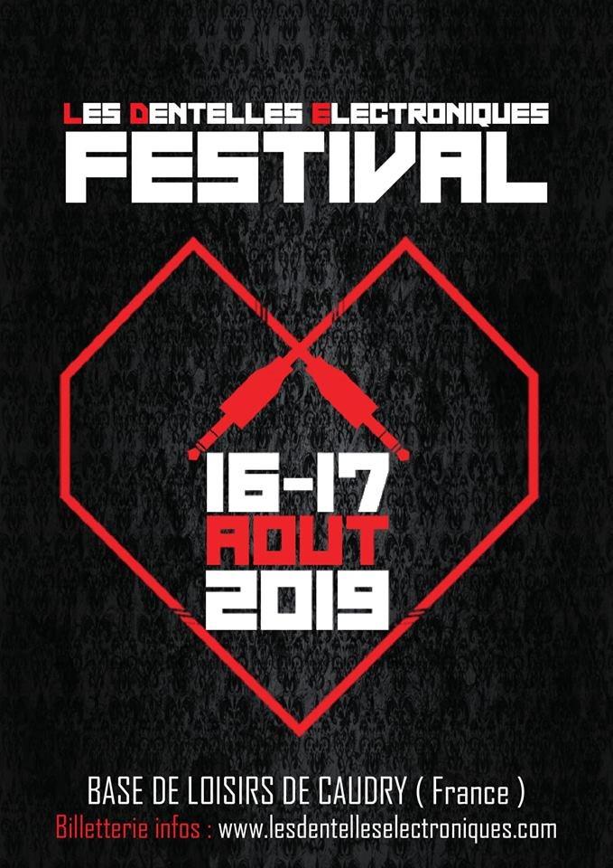 Les Dentelles Electroniques Festival 2019 - Flyer front