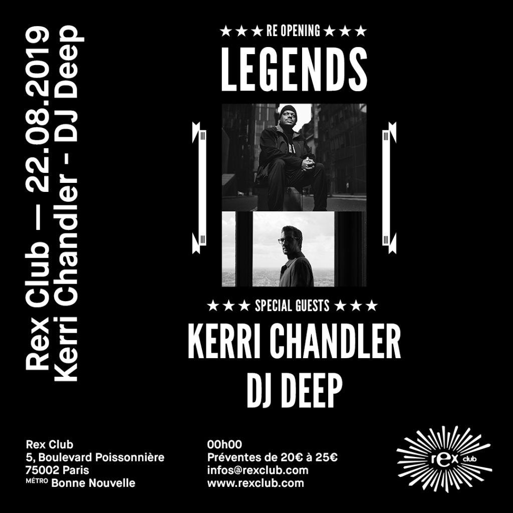 Rex Club presente Legends: Kerri Chandler & DJ Deep - Flyer front