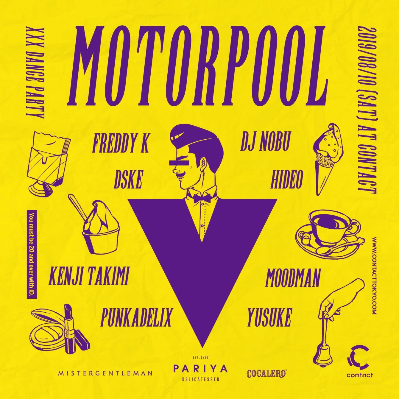 Motorpool Feat. Freddy K & DJ Nobu - Flyer front