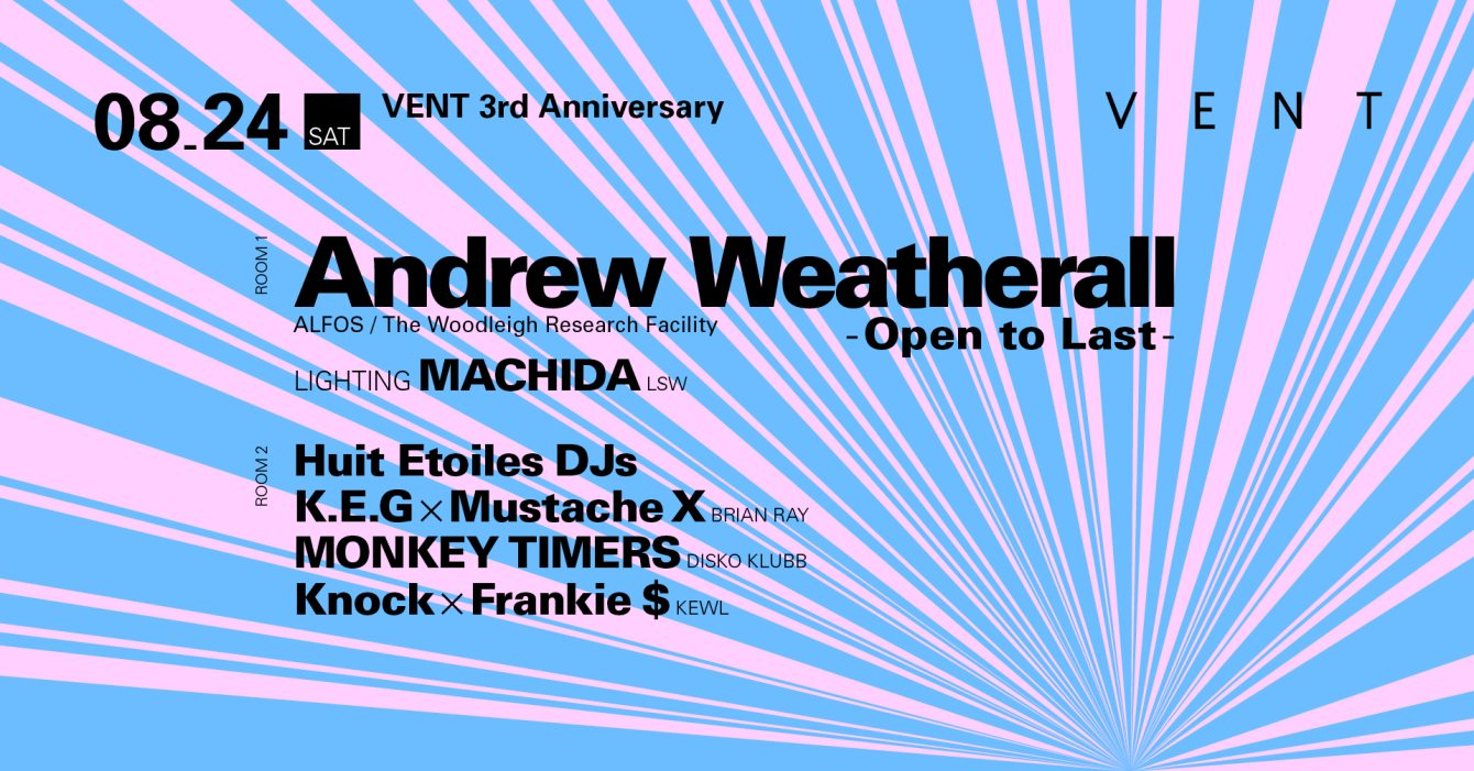 Andrew Weatherall at Vent 3rd Anniversary: Day 2 - Flyer front