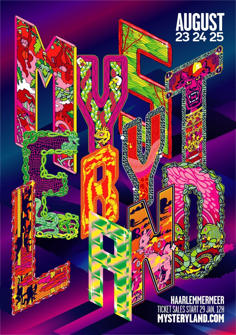 Mysteryland 2019 - Flyer front