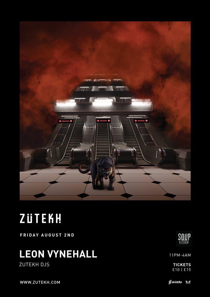 Zutekh presents Leon Vynehall - Flyer front