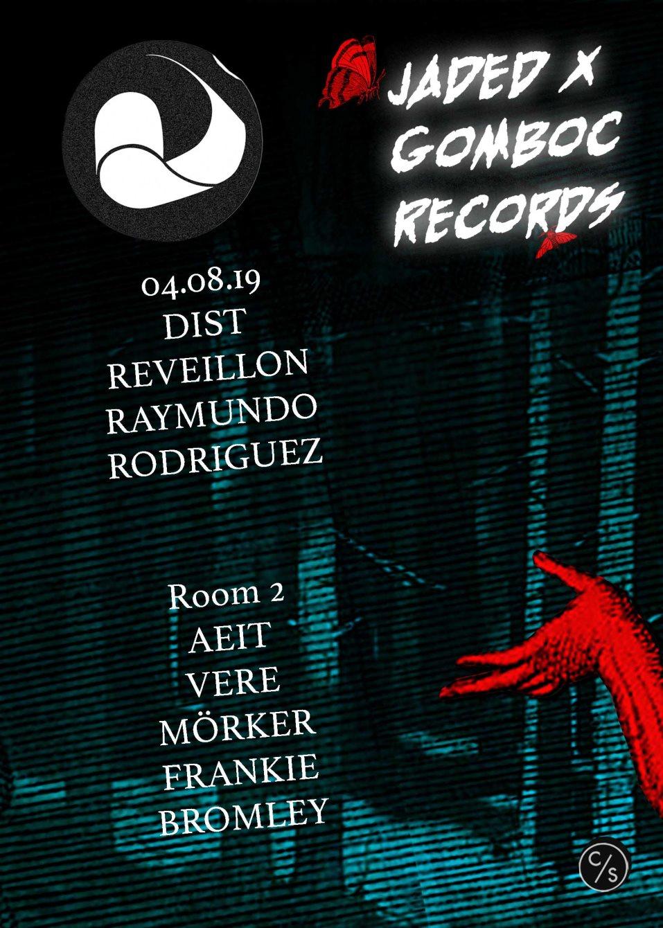 Jaded x Gomboc Records: Reveillon & Dist - Flyer back