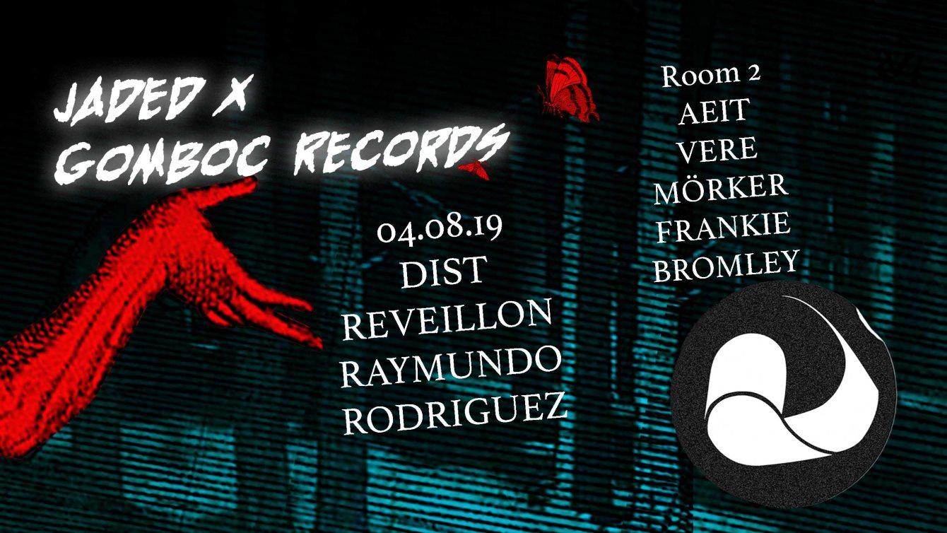 Jaded x Gomboc Records: Reveillon & Dist - Flyer front