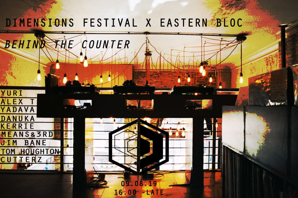 Dimensions Festival X Eastern Bloc Instore - Flyer front