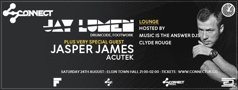 Jay Lumen + Jasper James - Flyer front