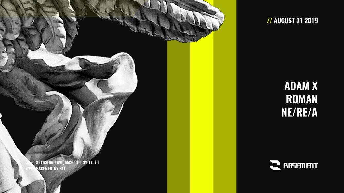 Adam X / Roman / Ne/Re/A - Flyer front