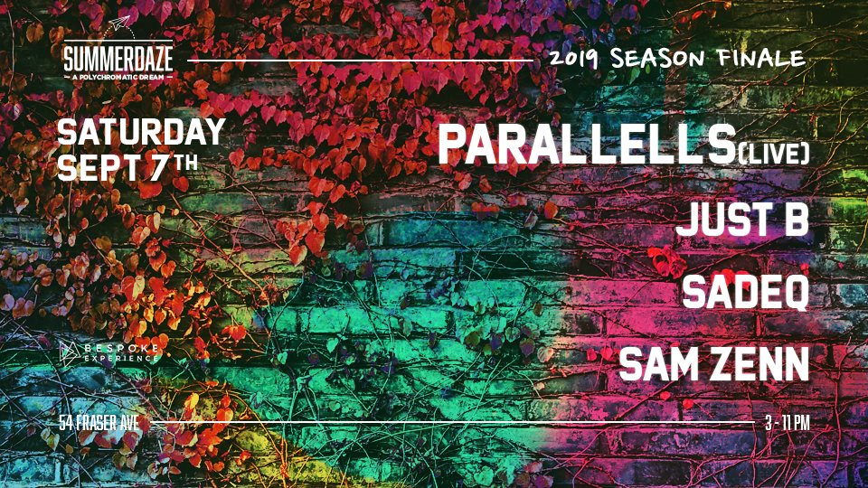 SummerDaze Season Closing Party with Parallells (Live) - Flyer front