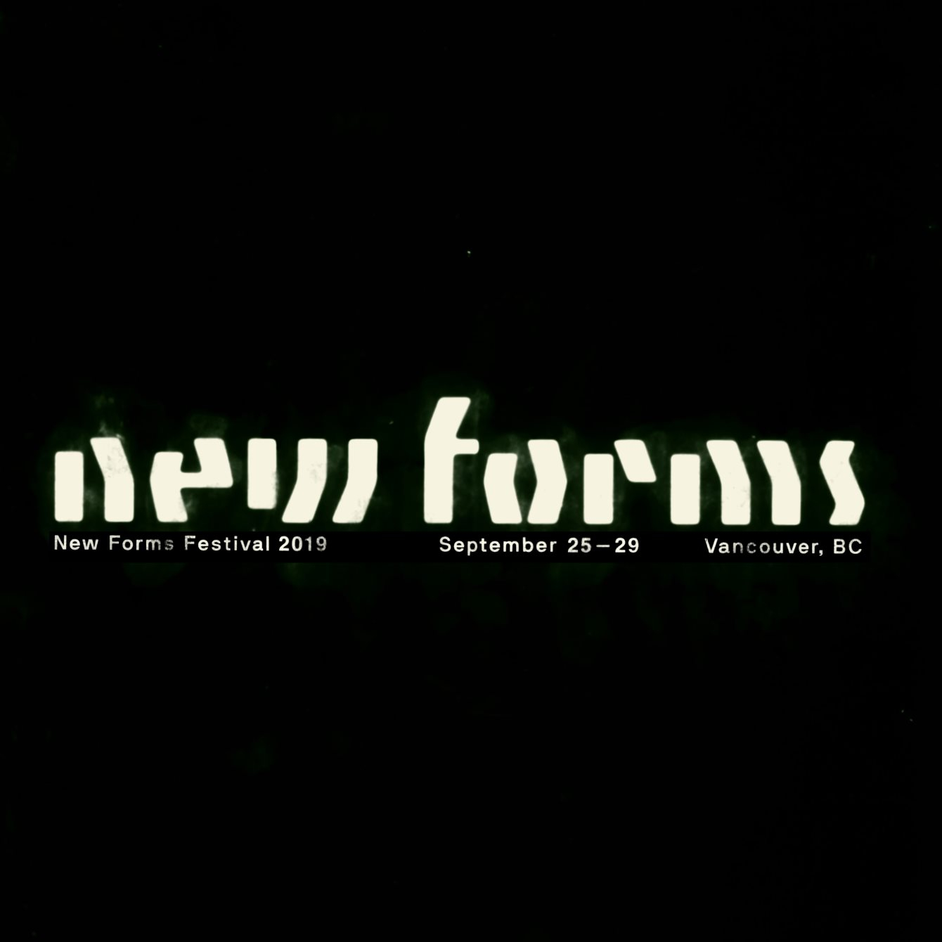 New Forms Festival 2019 - Flyer front