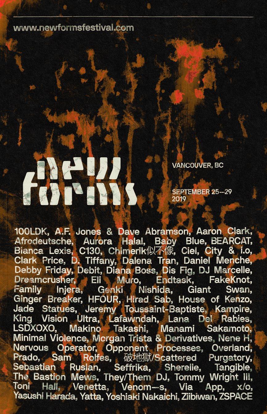 New Forms Festival 2019 - Flyer back