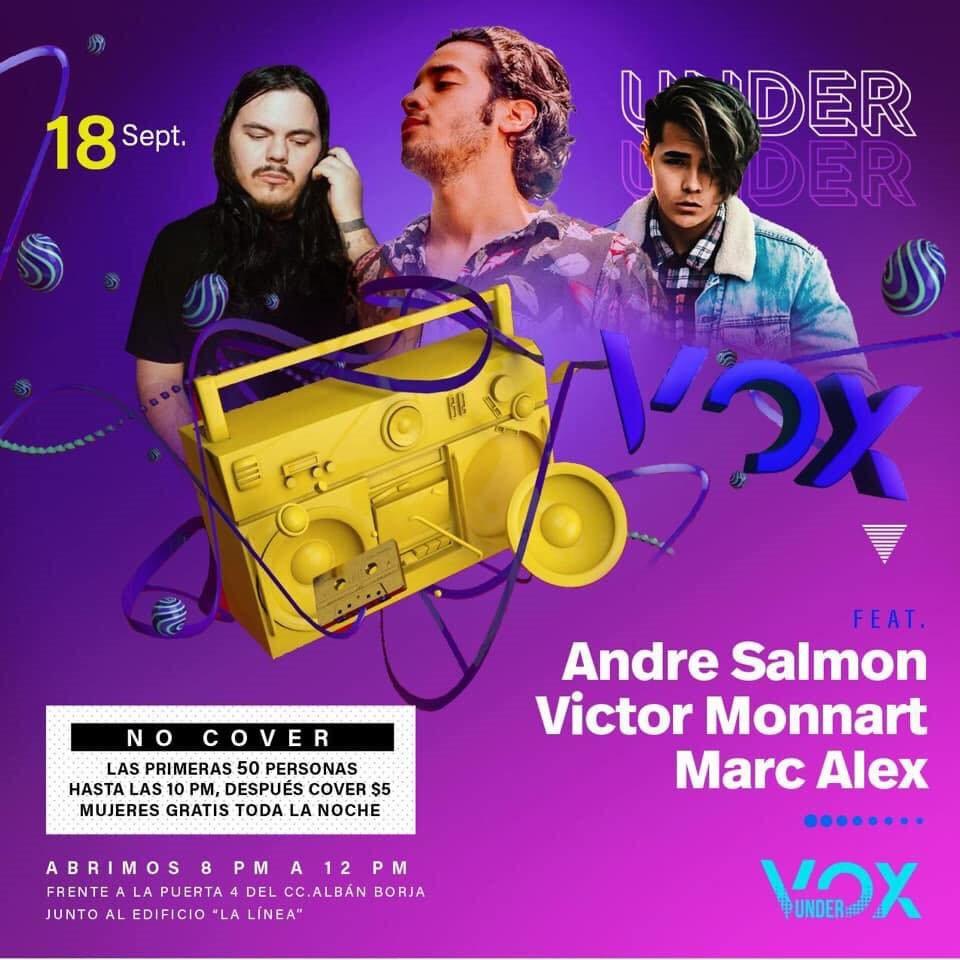 Under vox - Flyer back