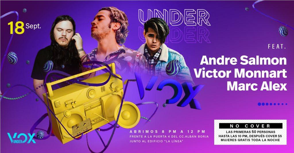 Under vox - Flyer front