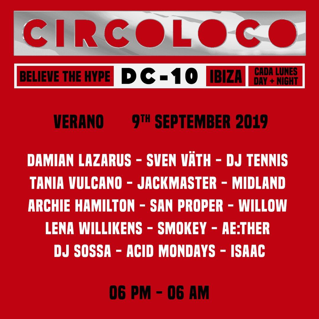 Circoloco Ibiza - Flyer back