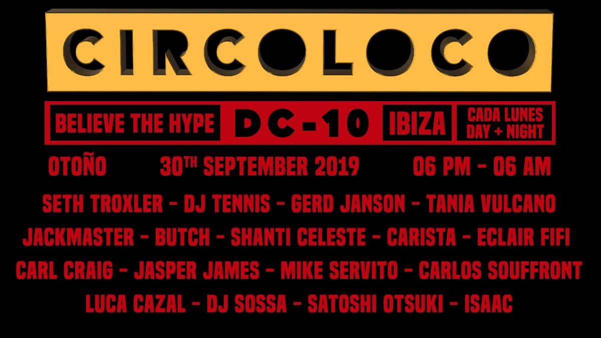 Circoloco Ibiza - Flyer front