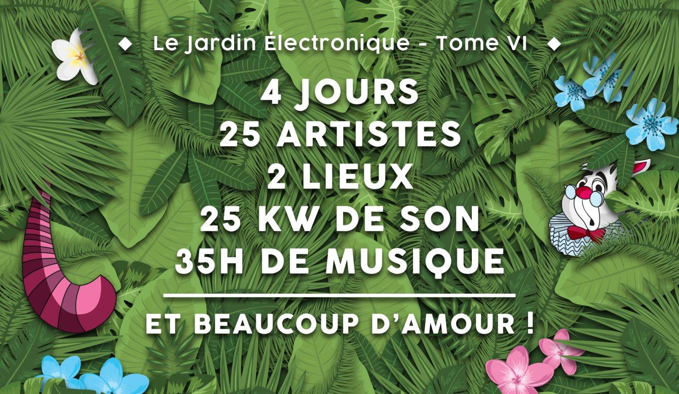 Le Jardin Électronique - Tome VI - Flyer front