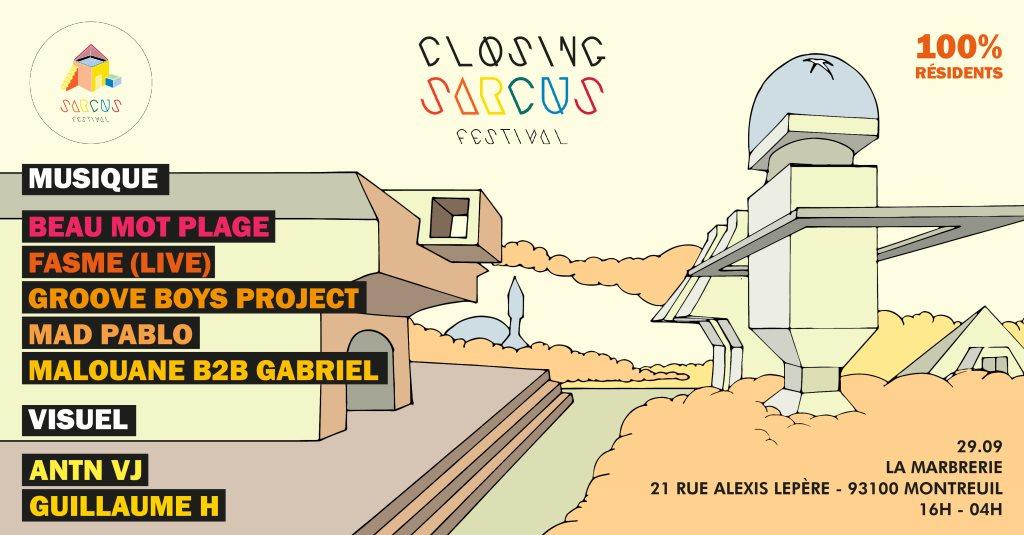 Closing Sarcus 2019 • 100% Résidents - Flyer front