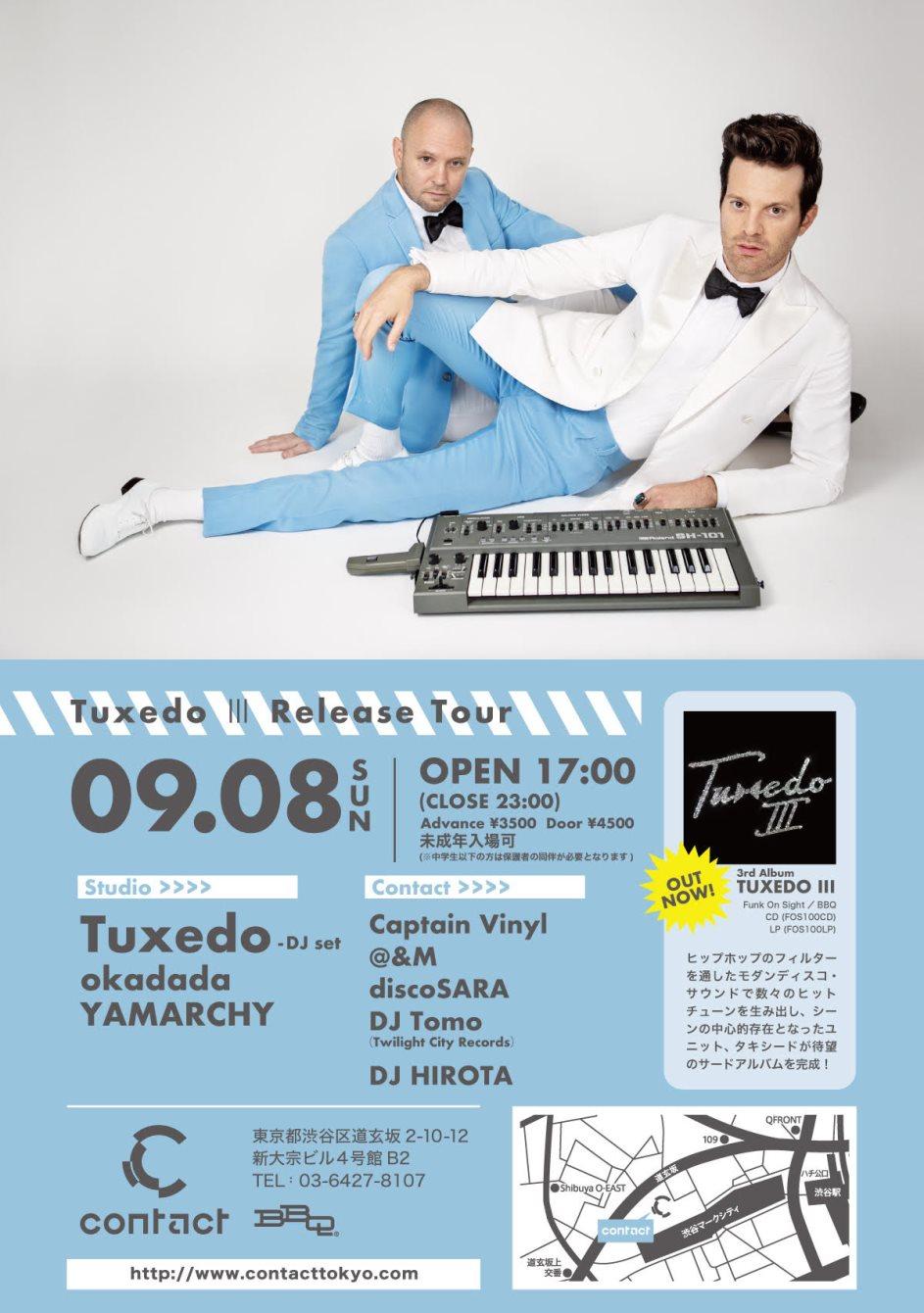 Tuxedo Ⅲ Release Tour - Flyer back