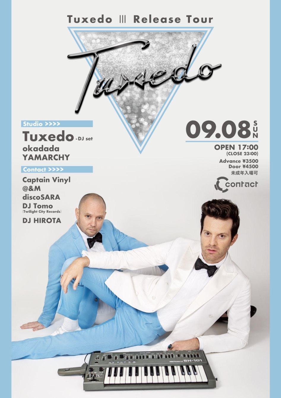 Tuxedo Ⅲ Release Tour - Flyer front