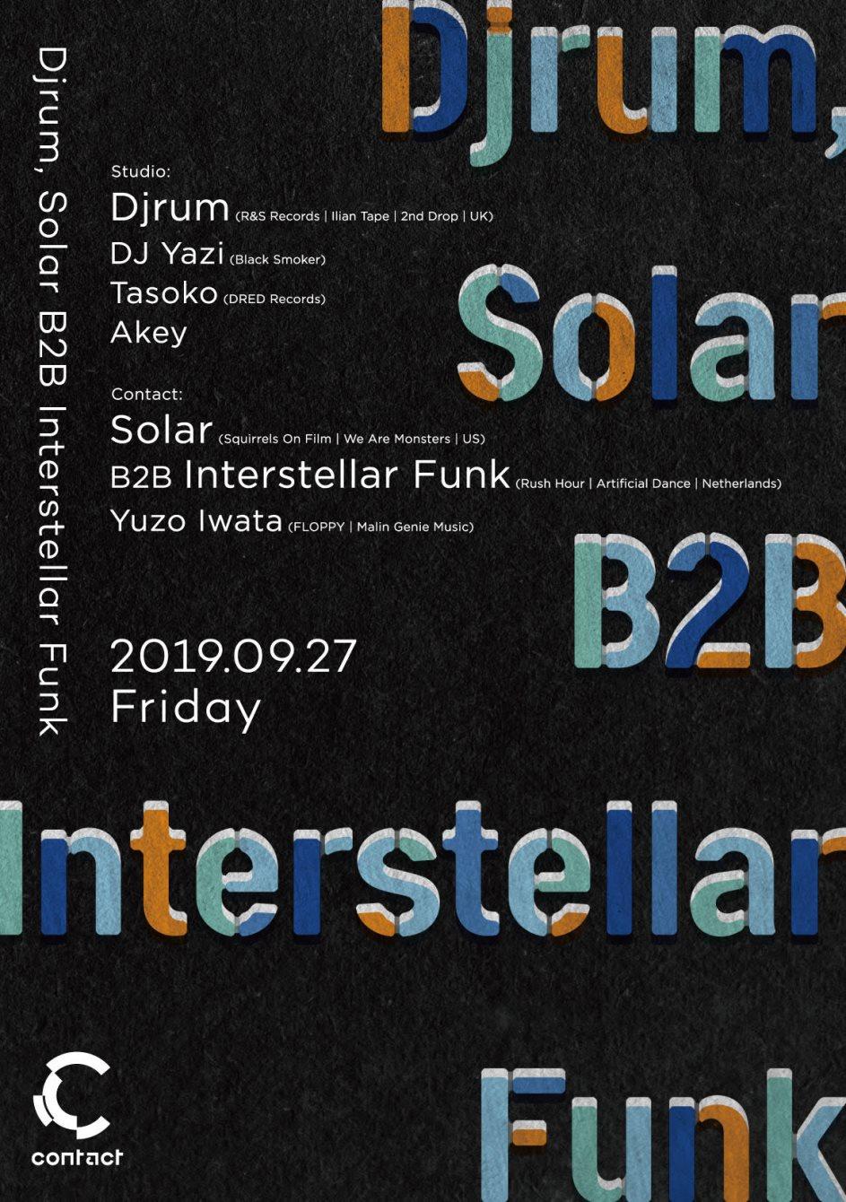 DjRUM, Solar B2B Interstellar Funk - Flyer front