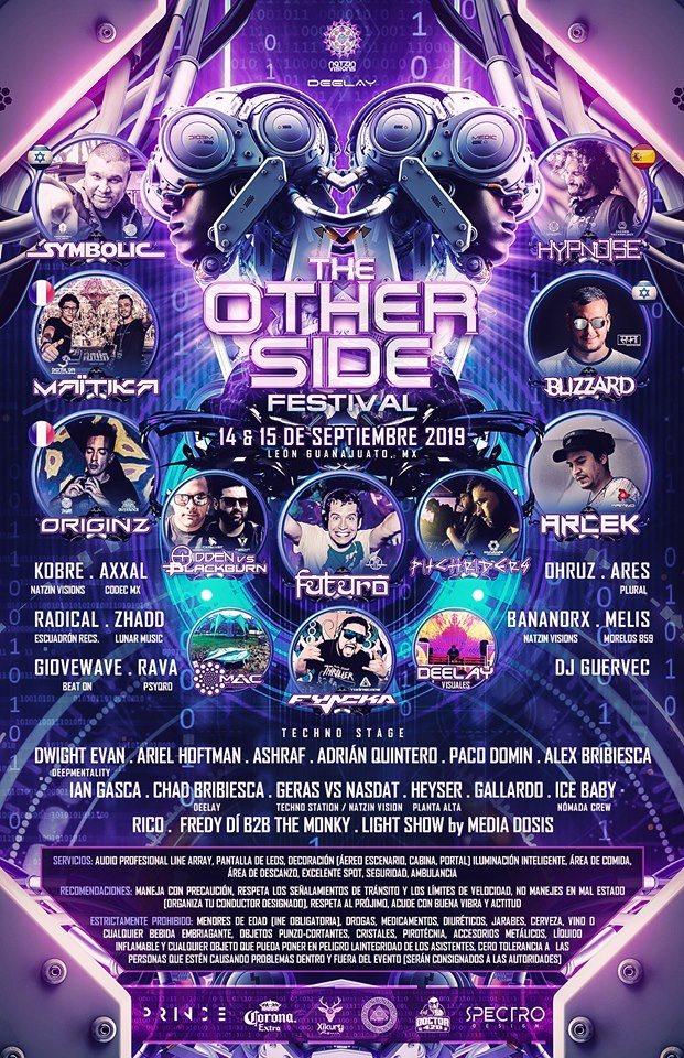 the Otherside Festival - Flyer back