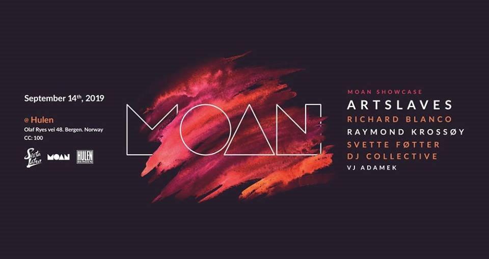 Moan Showcase - Flyer front