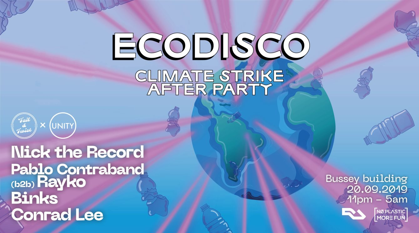 Ecodisco Climate Strike Afterparty - Flyer front
