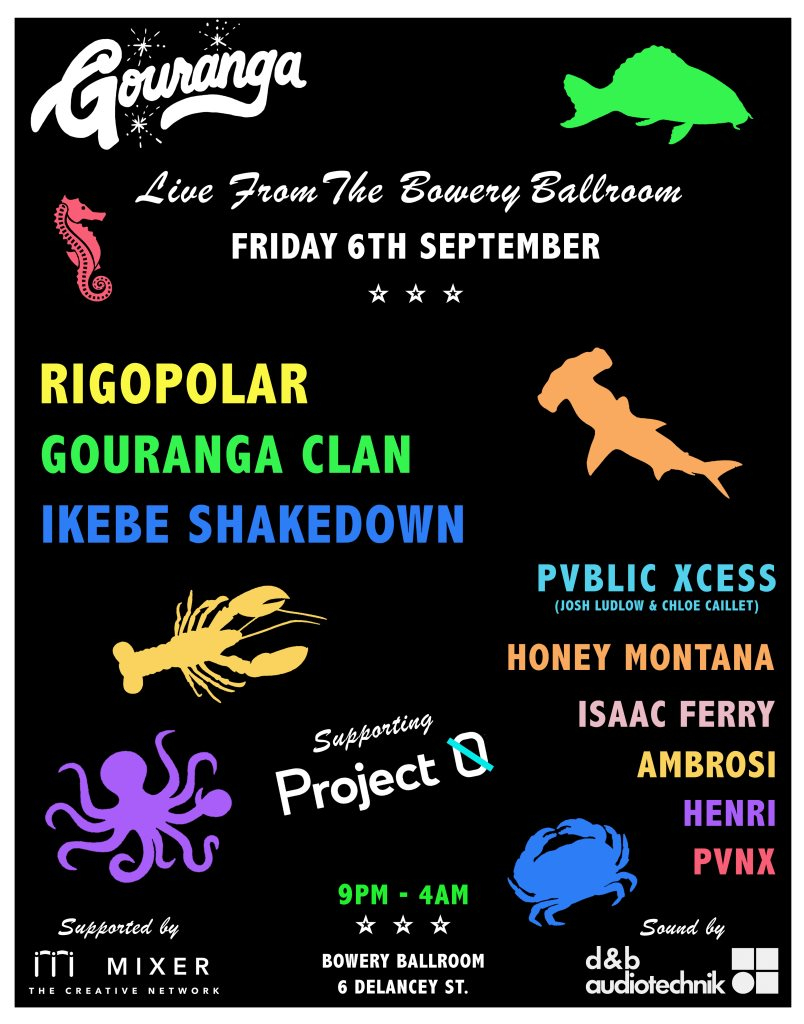Gouranga presents - Live From The Bowery Ballroom - Flyer front