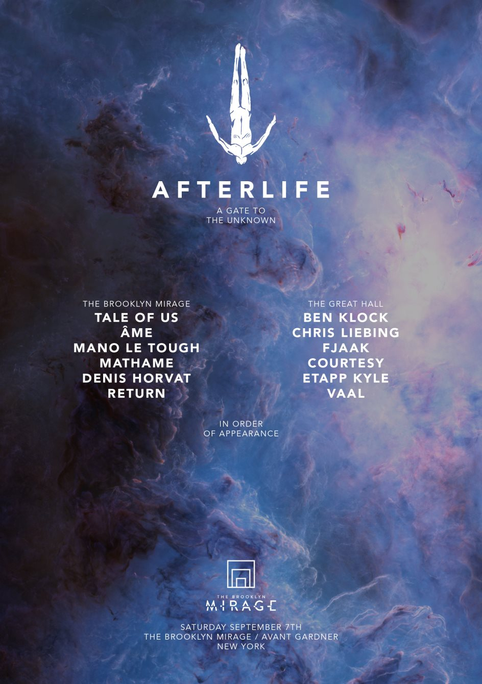 Afterlife New York - Flyer front