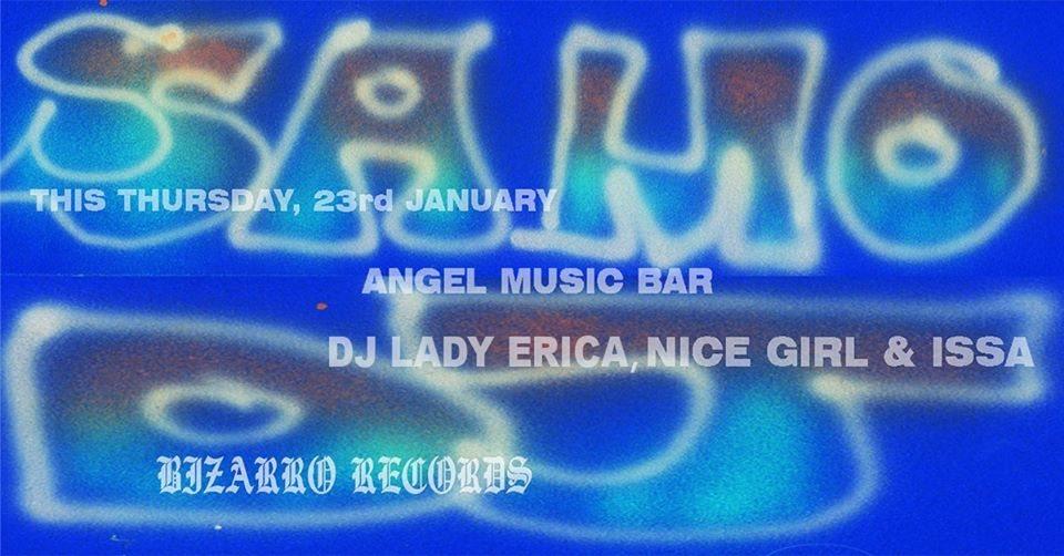 Bizarro Records + Samo DJ - Flyer front