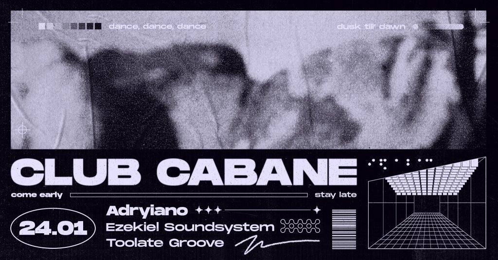 Club Cabane - Adryiano - Flyer front