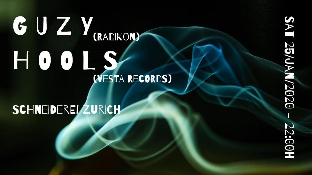 Guzy & Hools - Flyer front