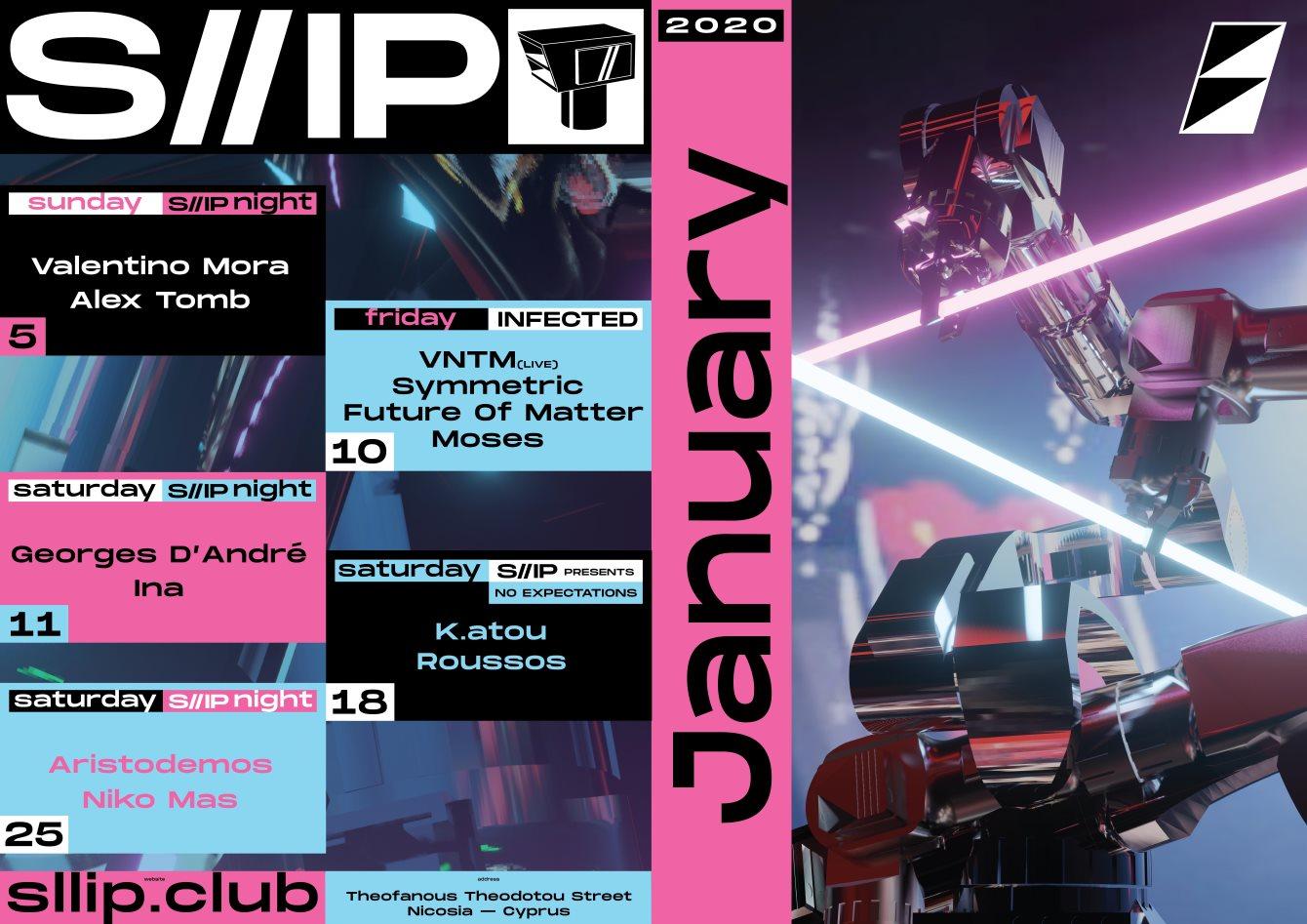 S//IP Night: Valentino Mora // Alex Tomb - Flyer back
