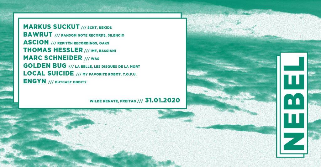 Nebel w. Markus Suckut, Bawrut, Ascion & More - Flyer front