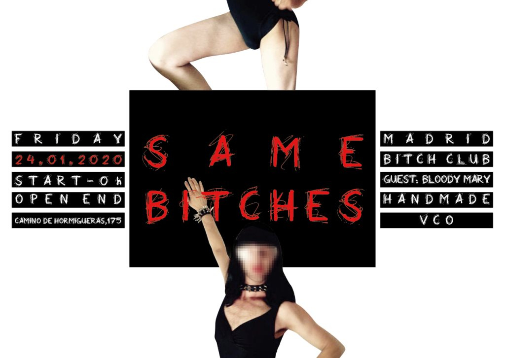 Same Bitches *Madrid Bitch Club* - Flyer front