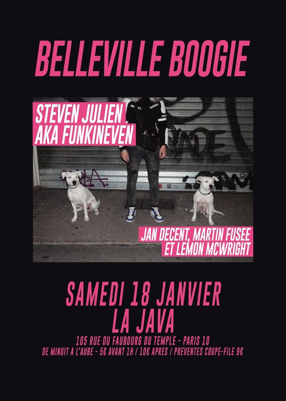Belleville Boogie: Steven Julien aka FunkinEven & Résidents - Flyer back