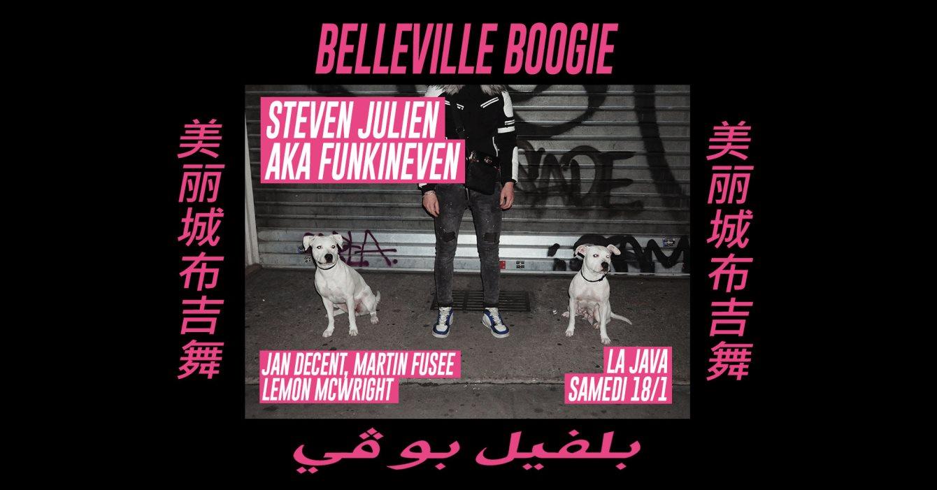Belleville Boogie: Steven Julien aka FunkinEven & Résidents - Flyer front