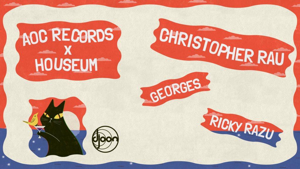 Houseum & AOC Records presents: Christopher Rau - Flyer front