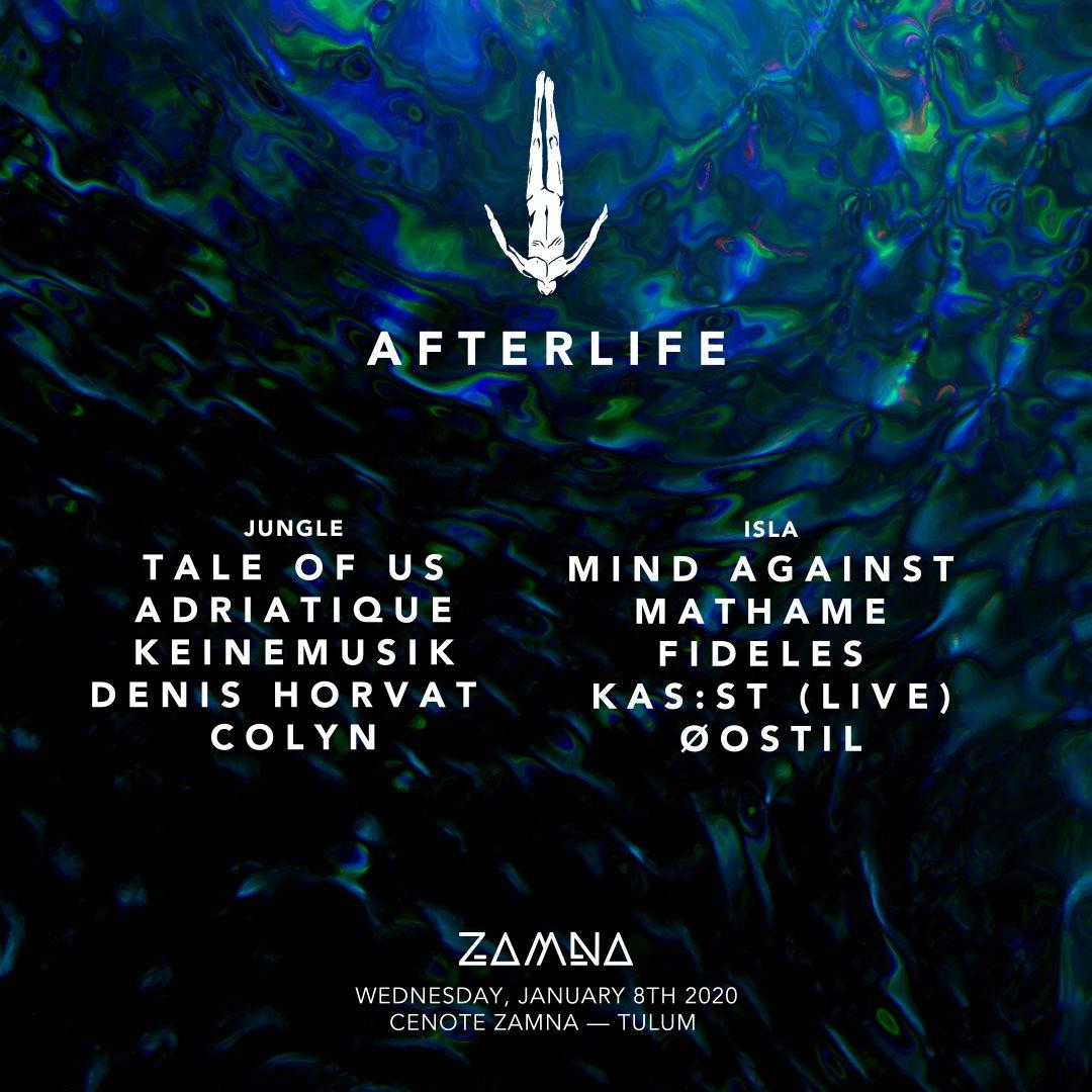 Afterlife Tulum 2020 - Flyer back