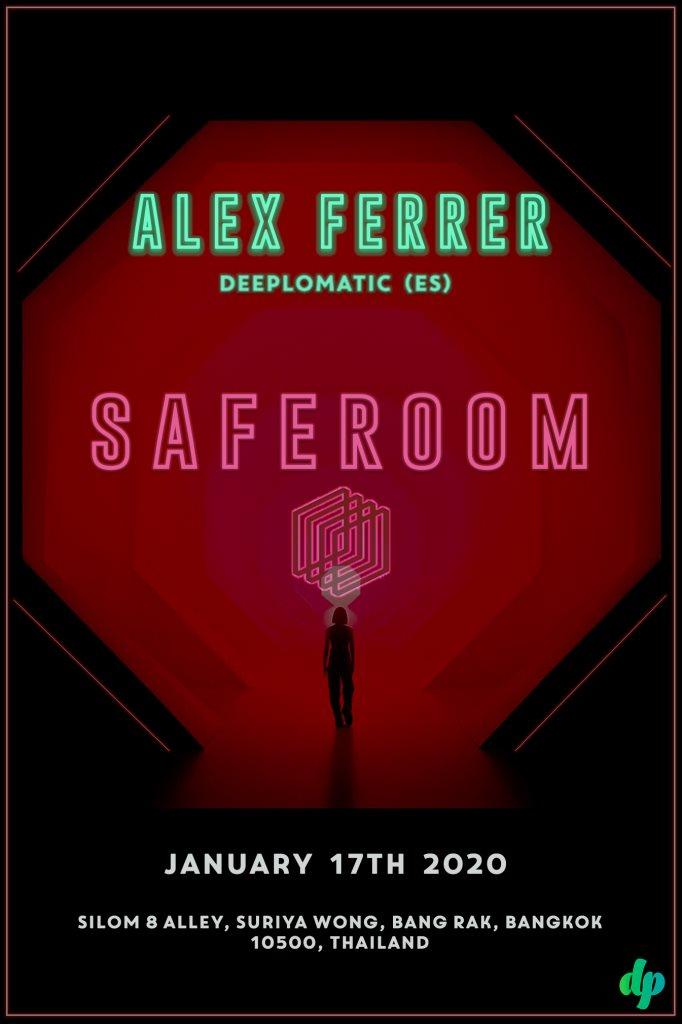 Safe Room Pres. Alex Ferrer - Flyer front
