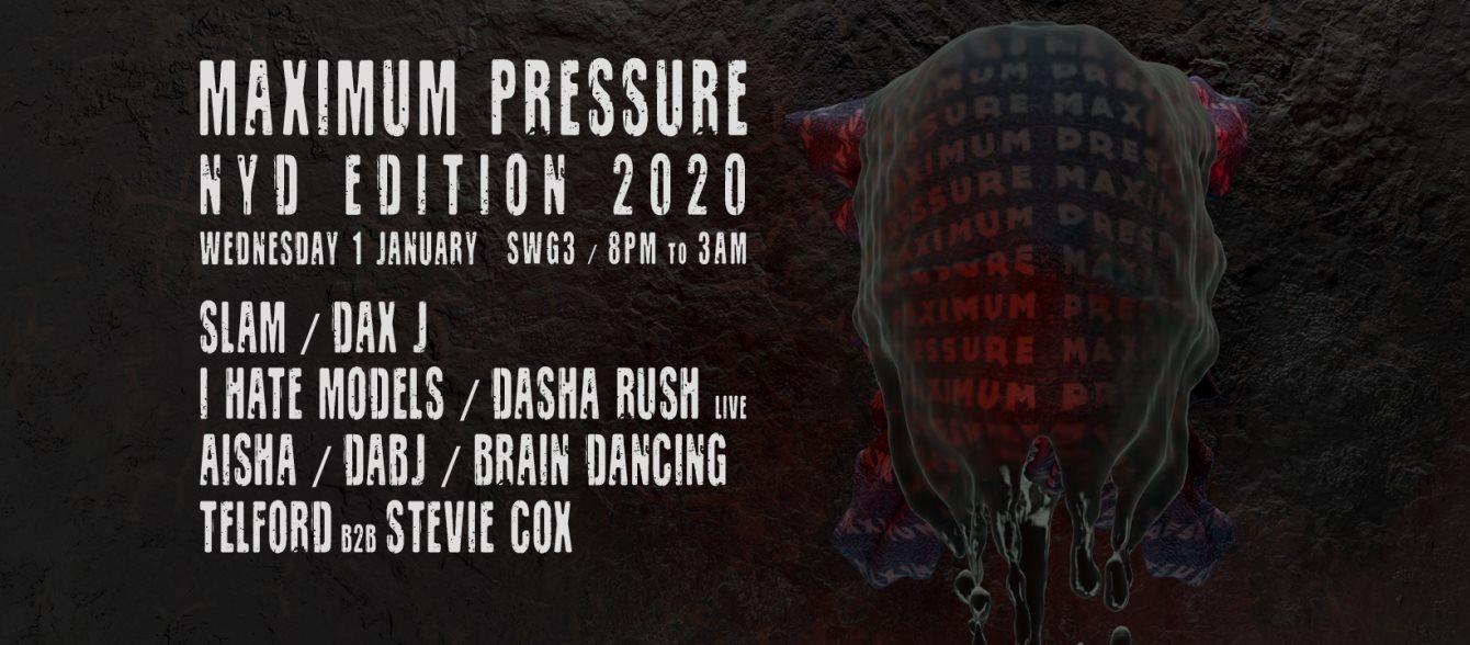 Maximum Pressure x NYD 2020 - Flyer front