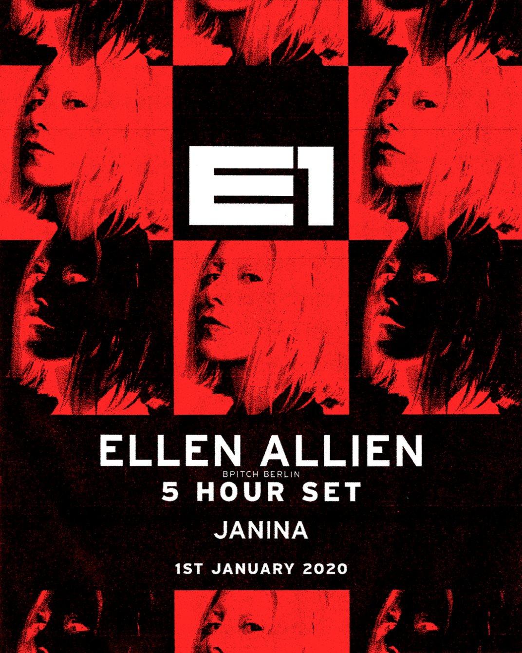Ellen Allien (5 Hour set) with Janina - 11pm - 6am - Flyer back