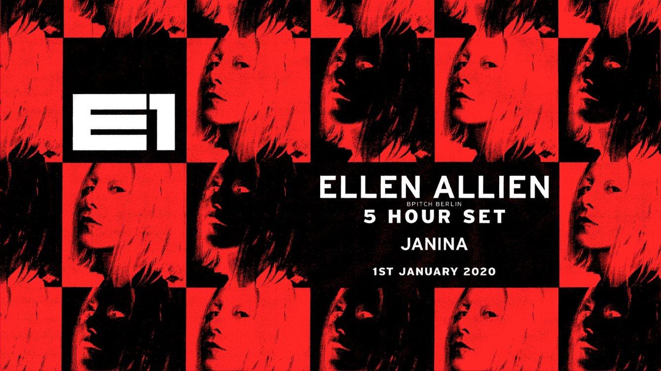 Ellen Allien (5 Hour set) with Janina - 11pm - 6am - Flyer front