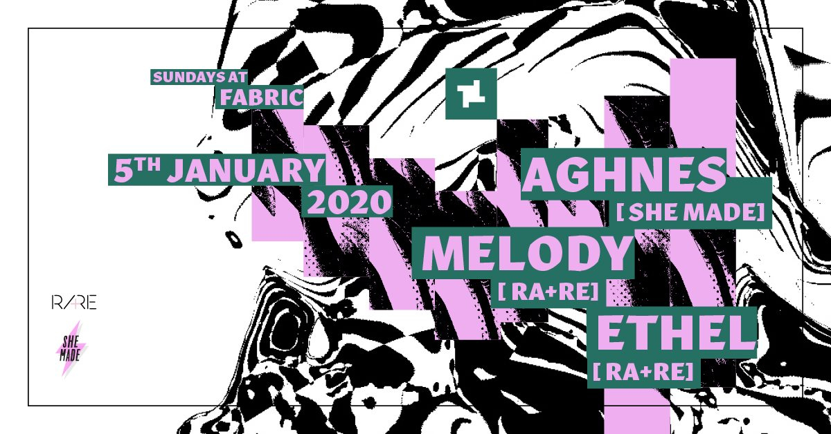 Sundays at fabric: She Made Invites RA+RE - Flyer front
