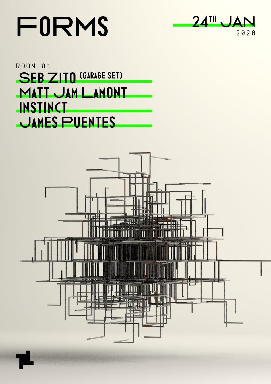 Forms: Seb Zito (Garage Set), Matt Jam Lamont, Instinct & James Puentes - Flyer back