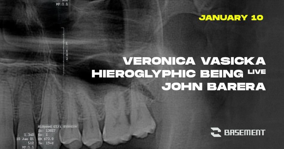 Veronica Vasicka / Hieroglyphic Being Live / John Barera - Flyer front