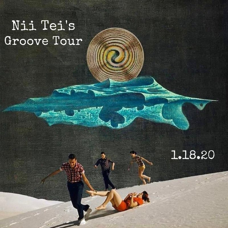 Nii Tei's Groove Tour Experience - Flyer front