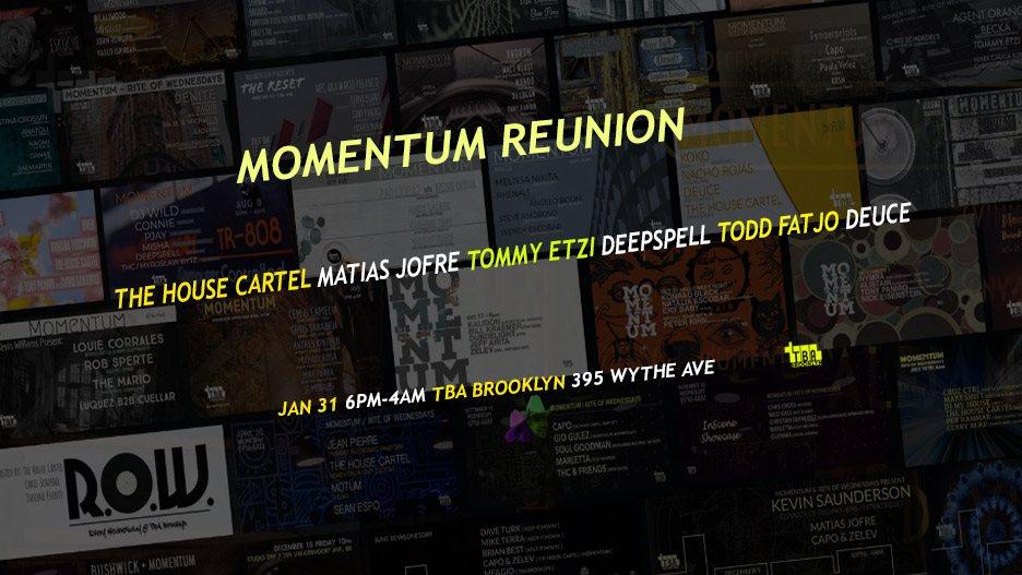 Momentum Reunion - Flyer front