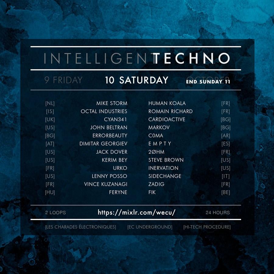 Ecu Show - Intelligent Techno - Flyer front