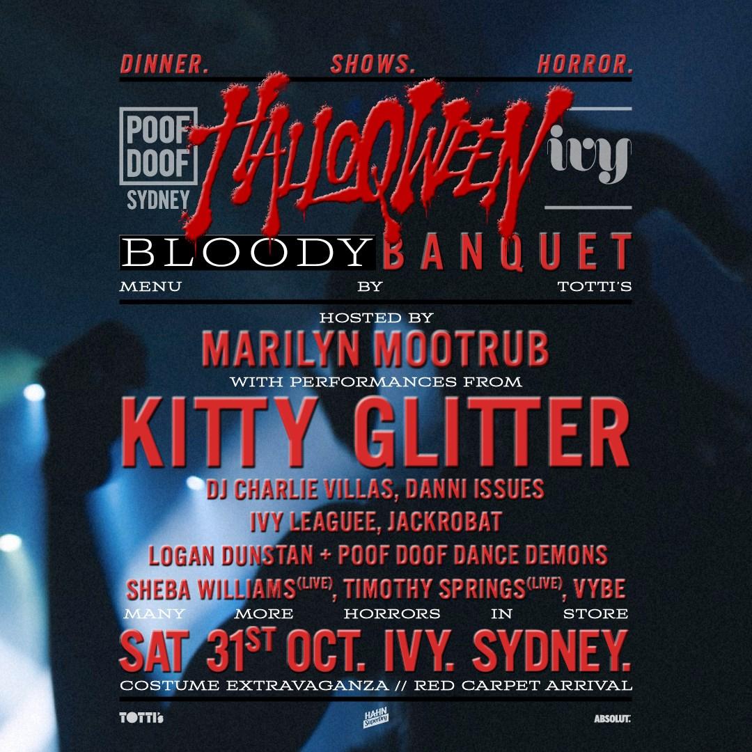 Poof Doof Halloqween: Bloody Banquet - Flyer front