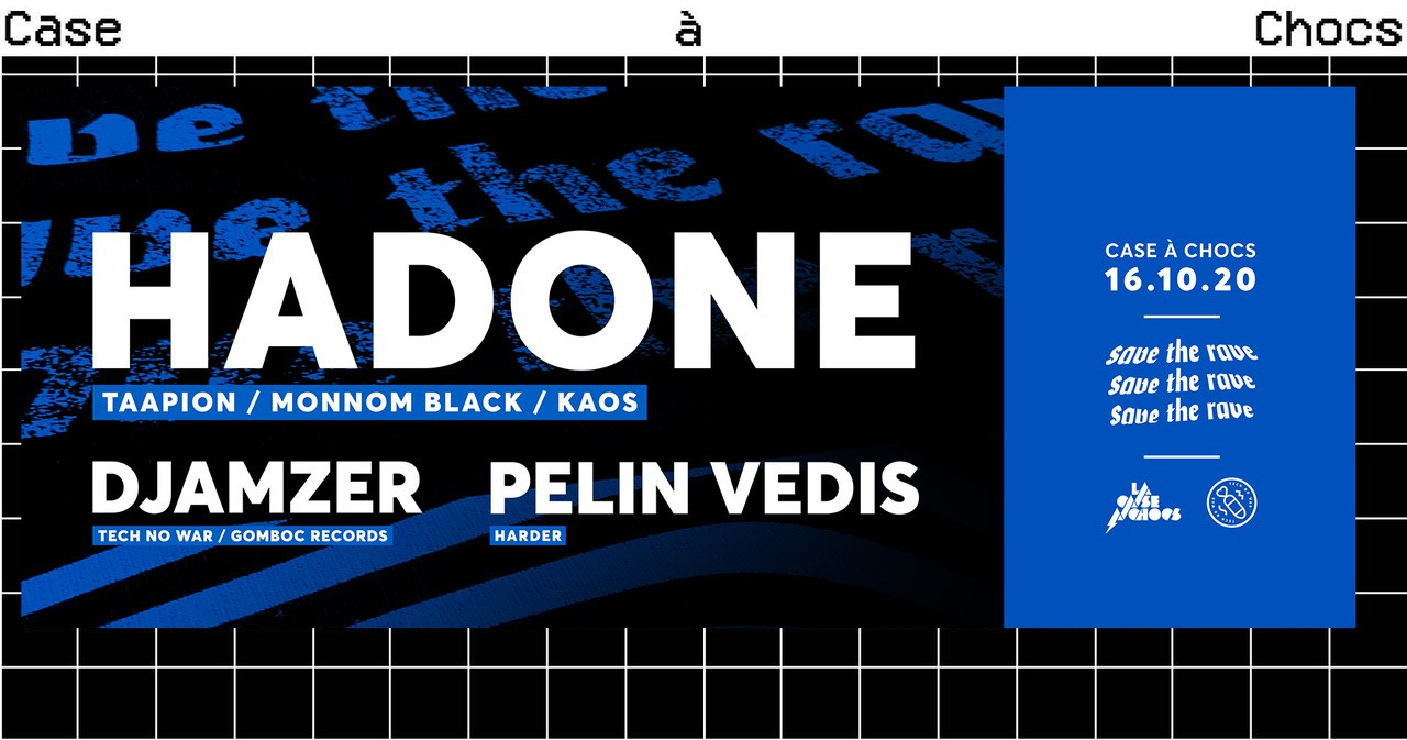 Save The Rave with Hadone - Flyer front